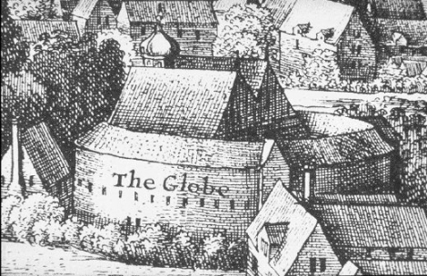 Shakespeare's Second Globe 1614 - 1642 - detail of Long View From Bankside, Wenceslas Hollar,1647